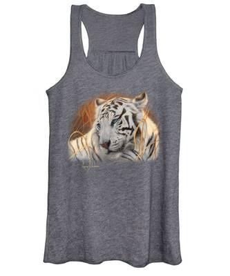 Portrait White Tiger 1 Women's Tank Top