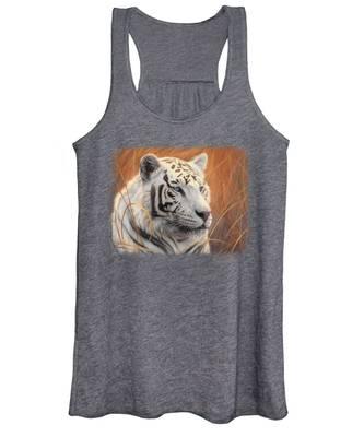 Portrait White Tiger 2 Women's Tank Top