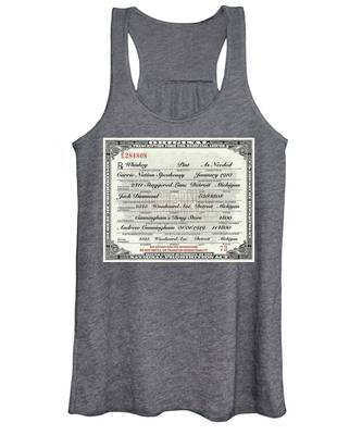 Prohibition Prescription Certificate Carrie Nation Speakeasy Women's Tank Top