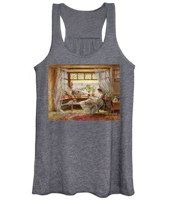 Reading By The Window Women's Tank Top