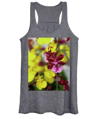 Maroon And Yellow Orchid Women's Tank Top