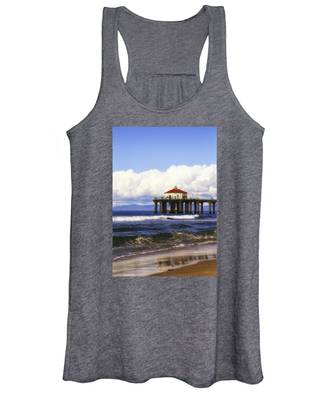 Reflections On The Pier Women's Tank Top