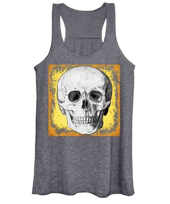 Women's Tank Top featuring the digital art Skull by Alice Gipson