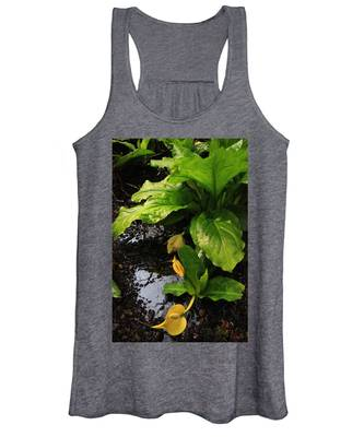 Women's Tank Top featuring the photograph Skunk Cabbage Beauty by Rasma Bertz