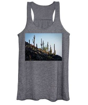 Women's Tank Top featuring the photograph Sonoran Desert Saguaro Slope by Judy Kennedy