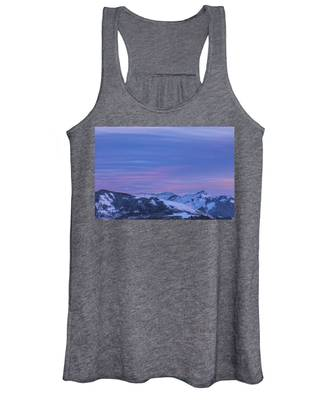Striped Sky At Day's End Women's Tank Top