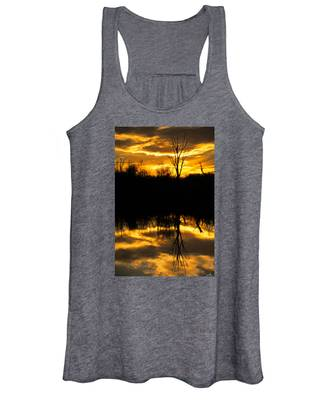 Sunset Over The Sabine River Women's Tank Top