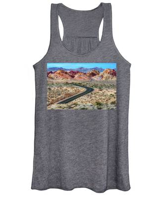 Road Through The Valley Of Fire Women's Tank Top
