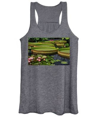 Waterlilies North And South Women's Tank Top