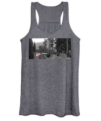 Women's Tank Top featuring the photograph Whipoff In Red by Rasma Bertz
