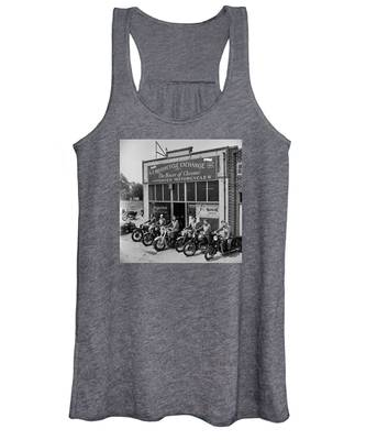The Motor Maids Of America Outside The Shop They Used As Their Headquarters, 1950. Women's Tank Top