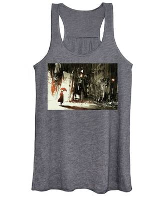 Woman In The Destroyed City Women's Tank Top
