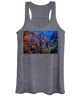 Colorful Mountains Of Kauai Women's Tank Top