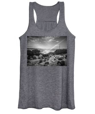 Eagle Rock, Grand Canyon In Black And White Women's Tank Top
