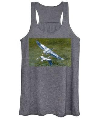Great Blue Heron Pair Women's Tank Top