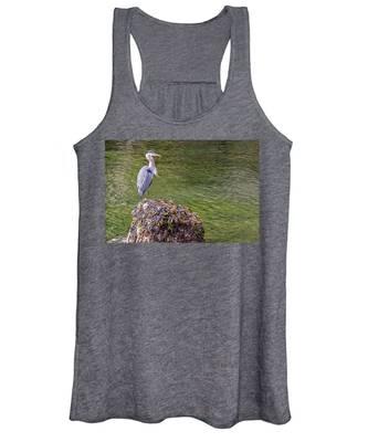 Heron On The Rock Women's Tank Top