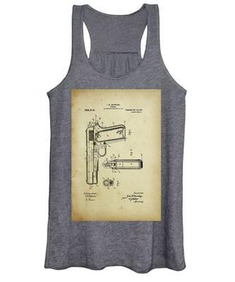 M1911 Browning Pistol Patent Women's Tank Top
