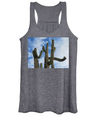 Women's Tank Top featuring the photograph Saguaro Clique by Judy Kennedy