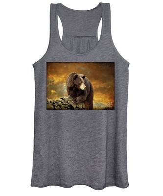 The Bear Went Over The Mountain Women's Tank Top