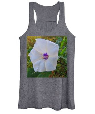 Women's Tank Top featuring the photograph The Perfect Flower - Sacred Datura by Judy Kennedy