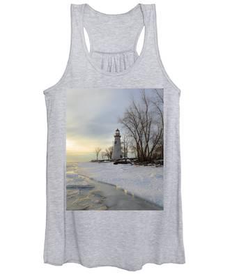 Marblehead Lighthouse Winter Sunrise Women's Tank Top