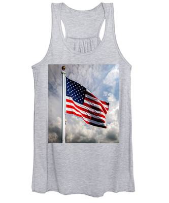 Portrait Of The United States Of America Flag Women's Tank Top
