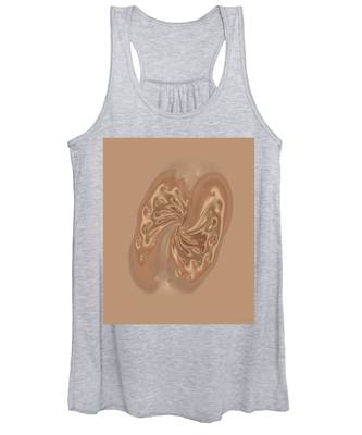 Satin Butterfly Women's Tank Top