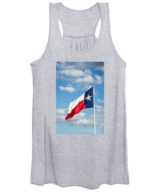 Texas State Flag Waving Women's Tank Top
