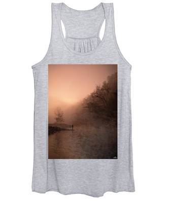Dawn On The Lower Mountain Fork River Women's Tank Top