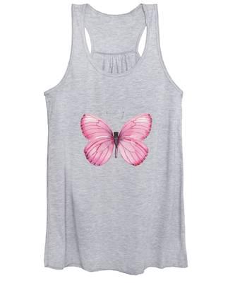 106 Pink Marcia Butterfly Women's Tank Top
