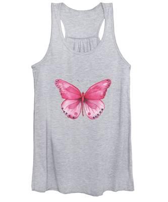 107 Pink Genus Butterfly Women's Tank Top
