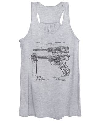 1904 Luger Recoil Loading Small Arms Patent - Vintage Women's Tank Top