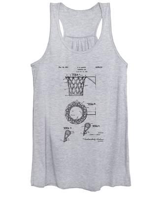 1951 Basketball Net Patent Artwork - Vintage Women's Tank Top