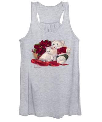Christmas Kitten Women's Tank Top