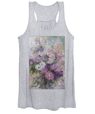 Asters And Stocks Women's Tank Top