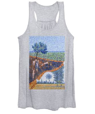 Behind The Canvas Women's Tank Top