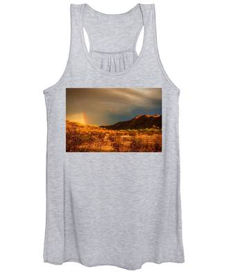 Women's Tank Top featuring the photograph Beyond The Rainbow by Judy Kennedy