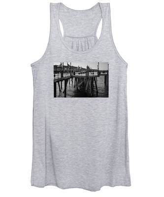 Black And White On The Pier Women's Tank Top