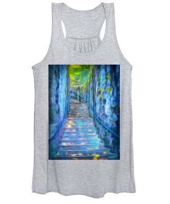 Blue Dream Stairway Women's Tank Top