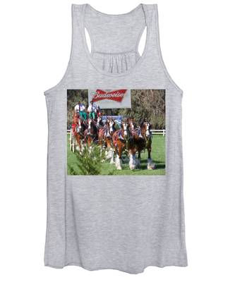 Women's Tank Top featuring the photograph Budweiser Clydesdales Perfection by Alice Gipson