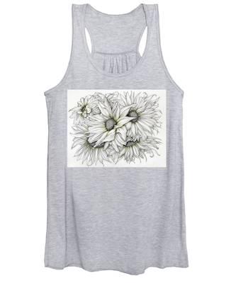 Sunflowers Pencil Women's Tank Top