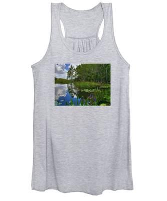 Florida Wetlands Reflections Women's Tank Top