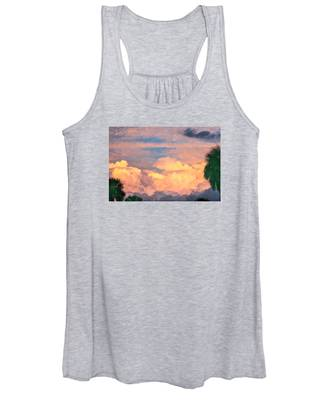 Ft De Soto Sunset Clouds Women's Tank Top