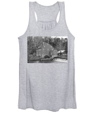 Gray Autumn At The Old Mill In Clinton Women's Tank Top