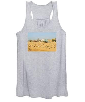 Gulls On Sand Women's Tank Top