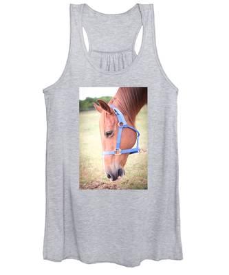 Horse Eating Grass Women's Tank Top