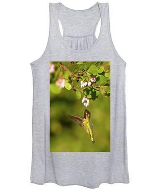 Hummingbird And Manzanita Blossom Women's Tank Top