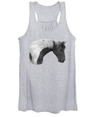 Intrigued - Black And White Women's Tank Top