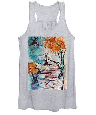 Orange Flowers In Vase Women's Tank Top