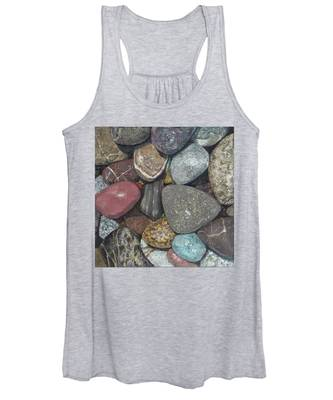 Pacific Nw Beach Rocks Women's Tank Top